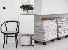 Como organizar las revistas de manera original y práctica   Decorar tu casa es facilisimo.com