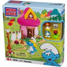The Smurfs Mega Bloks Smurfette Play Set, Multicolor