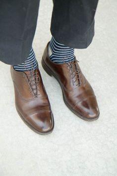 snazzy striped socks