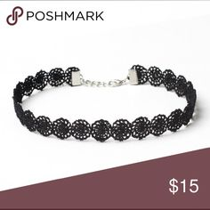 NEW- Black Lace Choker Gorgeous black laced choker! Jewelry Necklaces