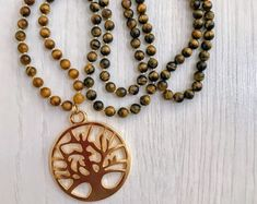 #forher#necklace#handmade#Boho#ethnic#jewlery#gifts#mala#style  unique tree of life necklace, gift women xmas, golden tree of life necklace, ooak tree of life necklace, long chic necklace, ethnic necklace