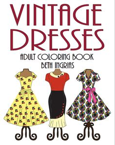 """This is an adult coloring book digital download with 30 unique designs supplied as a downloadable PDF file. Each design fills an entire 8.5 inch by 11 inch piece of paper. Print as many copies of each design as you want. Print, color, reprint and color some more!  """"I love vintage clothing and this coloring book is fantastic!"""" Marty  """"Cant get enough of these vintage dresses."""" Jane  """"Reminds me of the old dress patterns I used to buy!."""" Paula  Created by best selling illustrator and modern…"""