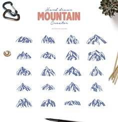 Hand Drawn Mountain Creator Kit by lovepower on @creativemarket