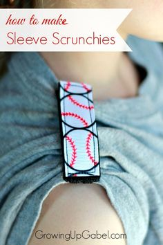 "Have an athlete whose shirt sleeves need to stay put? This easy sewing tutorial will show you how to make a ""sleeve scrunchie"" with Velcro and any ribbon you like!"