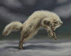 """Arctic Fox"" - Original Fine Art for Sale - © Sue Deutscher"