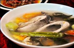 Sinigang na Bangus sa Bayabas is a soup dish made with milkfish and guava. This dish is a little sweeter and less sour than the traditional Sinigang soup.