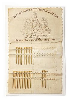 Ornamental dressing pins in the Mary Greg Collection at the Manchester Art Gallery.