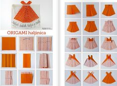 How to make origami girls skirts step by step DIY tutorial instructions, How to, how to do, diy instructions, crafts, do it yourself, diy website, art project ideas
