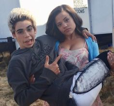 These Pictures of the Descendants Cast Hanging Out Prove They Really Are One Big Family - - The kids of the Isle of the Lost stick together, and the same goes for the Descendants cast. After filming three movies together over the past five years, the. Cameron Boyce Descendants, Disney Descendants Movie, Disney Channel Descendants, Descendants Cast, Descendants Pictures, Disney Channel Stars, Cameron Boys, Sarah Jeffery, Mal And Evie