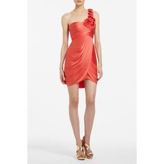 BCBGMAXAZRIA - DRESSES: COCKTAIL: ADDISON ONE-SHOULDER COCKTAIL DRESS  Perfect color for an Auburn formal occasion!
