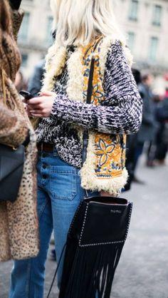 Style #folk avec ce #sac à #franges parfait (sac #MiuMiu)