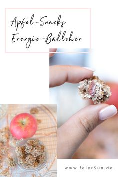 Apple snacks as energy balls feierSun.de - Totally delicious energy balls are apple snacks as energy balls vegan and healthy. A foolproof reci - Herb Recipes, Detox Recipes, Detox Meals, Apfel Snacks, Energy Balls, Desert Recipes, Kids Meals, Healthy Life, Herbalism