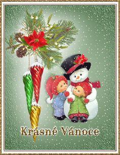 Animovaná vánoční přání | Obrázky, animace ke stažení zdarma Christmas Images, Merry Christmas, Christmas Gifts, Christmas Ornaments, Antiques, Holiday Decor, Gif 2, Vintage, Merry Little Christmas