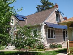 Silicon Energy solar awnings installed by Powerfully Green in Minneapolis, Minnesota.