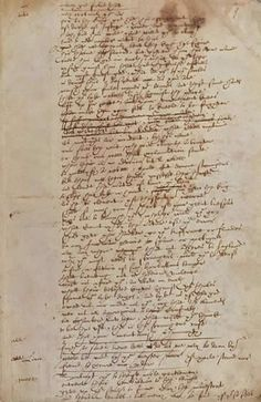 Probably Shakespeare's handwriting. If so, it's the only example we have aside from signatures. From the Play of Sir Thomas More.