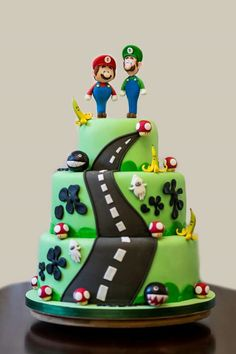 mario kart wedding cake toppers coolest mario kart wii birthday cake coolest birthday 17146