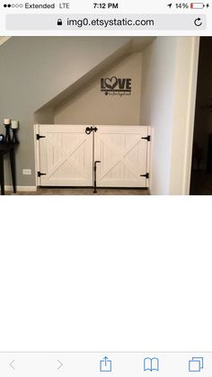 Rustic Dog or Baby Gate Barn Door Style by LoNineDesigns on Etsy