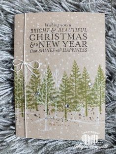 Stampin Up Festival of a Trees, White Christmas & Bright and beautiful Christmas card. Great one later card.