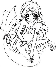 mermaid melody coloring pages Google Search Anime coloring