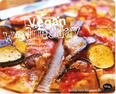 Gemüsepizza (GF), Ofenkartoffeln und Brombeere-Sesam-Milch