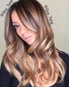 When I do @arikasato hair color, I choose to use foils to create a babylights technique and ombre the rest of her hair with foils! I would then go back and shadow root her with @pravanapro Express Tones in Natural Beige at the base and use pearl and clear in mids to ends. #Pravanabalayage