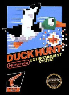 Duck Hunt from Nintendo. Nintendo is the best video game company, singlehandedly saved the video game industry. Early titles like Duck Hunt show the iconic creativity of this gaming kingpin. Kirby Nintendo, Nintendo 2ds, Super Nintendo, Oldies But Goodies, 90s Childhood, Childhood Memories, Duck Hunt Nes, Nintendo Entertainment System, Back In The 90s