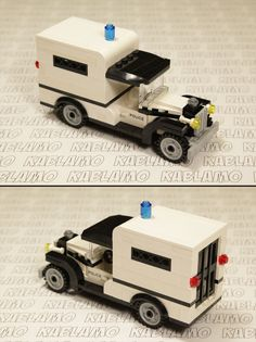 Lego MOC old-timer police car / prisoner transport.