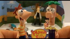 Phineas and Ferb Figurine Playset from the Disney Store Channel XD HD Phineas Et Ferb, Play Doh, Elmo, Disney Movies, My Little Pony, Good Times, Fun Time, Christmas Ornaments, Toys