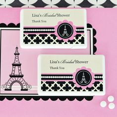 Event Blossom offers these Personalized Mini Mint Favors - Parisian Party and other unique and creative wedding favors and special event favors among its trendy product line. Creative Wedding Favors, Edible Wedding Favors, Personalized Wedding Favors, Paris Party Decorations, 40th Birthday Parties, Themed Parties, Parisian Party, Special Day, Party Themes