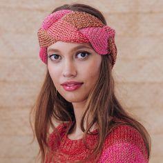 EUPHASIE hårbånd i Phil Coton 3 og Phil Brillant. Garnpakke fra Phildar. Head Band, Knit Crochet, Knitting, Ajouter, Aide, Moment, Unique, Products, Cotton
