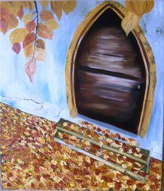 Gate to fall Art Print Autumn Painting, Oil Painting On Canvas, Original Paintings, Oil Paintings, Saatchi Art, My Arts, Fall, Artist, Diana