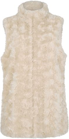 Womens cream gilet from Oasis - £58 at ClothingByColour.com