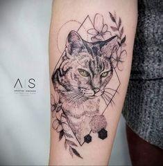 Cute Tattoos, New Tattoos, Body Art Tattoos, Girl Tattoos, Tattoo Art, Tattoos For Women Cat, Sleeve Tattoos For Women, Eye Tattoo Meaning, Tattoos With Meaning
