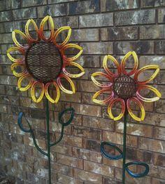 X-Large Horseshoe Flower Yard/Garden Art by LowerArkCrafts on Etsy