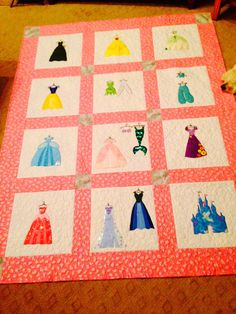 Disney Princess Inspired Applique Quilt Pattern - Instant Digital Download for my princess half quilt?