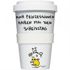 COFFEE-TO-GO Kaffeebecher AUCH PRINZESSINNEN weiß #kaffeebecher #coffeetogo #trinkbecher #kaffeetasse #coffee