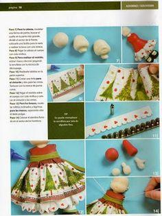 Archivo de álbumes Polymer Clay Christmas, Clay Ornaments, Cake Decorating Tutorials, Clay Tutorials, Diy, Album, Crafts, Fondant, Craft Ideas