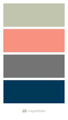 Sugar Charcoal Coral and Sage Wedding Color Palette custom color palette created at Navy Wedding Colors, Summer Wedding Colors, Prom Colors, Beach Color Schemes, Colour Schemes, Color Combos, Colour Pallette, Sage Bedroom, Color Schemes