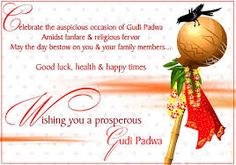 Image result for happy gudi padwa Happy Gudi Padwa. Gudi Padwa is the first day of Chaitra month that marks the beginning of the New Year according to lunisolar Hindu calendar. It has many other names such as, Ugadi and is celebrated with grandeur in Maharashtra and in certain other states.