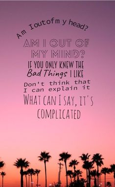 Don't matter what you say, don't matter what you do, I only wanna do bad things to you, so good, that you can't explain it, what can I say, it's complicated. BAD THINGS // Camila Cabello x MGK