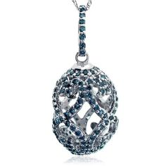 1.52 Carat Fancy Blue Diamond Faberge Egg Pendant « MyMallHome.com – Closest Shopping Mall on the Internet
