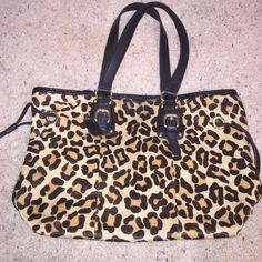 Steve Madden tote Used and has some wear to it! The inside also has a small pink stain...I bought this off of another website and decided I have one too many totes!!! Steve Madden Bags Totes