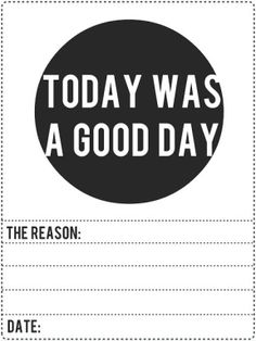 Today Was A Good Day Free Journaling Card for Project Life | [ One Velvet Morning ] This blog has tons of links to free Project Life freebies!