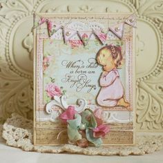 Angel Card by Viola Mahr using SL36 Angel Blessings Clear Art Stamps and Little Blessings Creative Scraps by Crafty Secrets