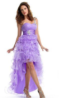 One Shoulder Ruffled High-low Dress