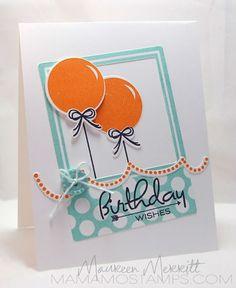 Mama Mo Stamps - PTI-Birthday Style - CAS Birthday card