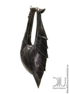 """Женские сумки ручной работы. Ярмарка Мастеров - ручная работа Сумка кожаная """"Броненосец"""" черный. Handmade."""