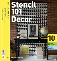 After years in the making, Chronicle Books introduces their second book with graphic designer Ed Roth, Stencil 101 Decor (Paperback, On-sale November 2009; $24.95), a beautiful over-sized portfolio which comes with ten plastic stencils, instructions, and photos that teach you how to customize every corner of your home, including walls, furniture, and floors.