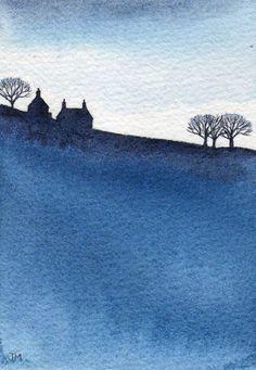 ARTFINDER: Blue 3. by JULIE MORRIS - Silhouette.