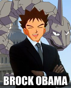 XD. This is who everyone should have voted for, forgot Romney or Barrack Obama, we should have all chosen everyone's favorite squinty eyed Pokemon trainer.
